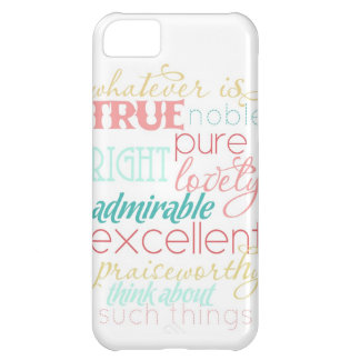 "whatever is true iPhone case- ""cotton candy"" iPhone 5C Case"