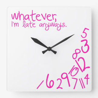 whatever square wall clock