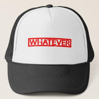 Whatever Stamp Trucker Hat