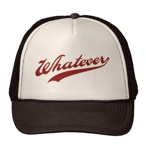 Whatever Swoosh Trucker Hats