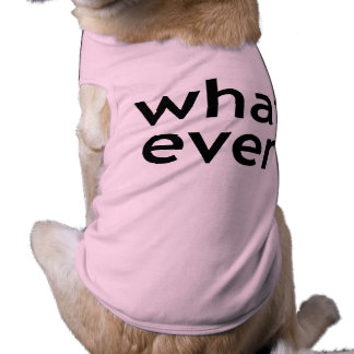 Whatever. What Ever. Don't Care. Attitude Problem. Shirt