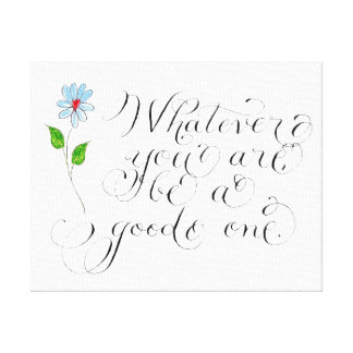 Whatever you are inspirational quote typography canvas print