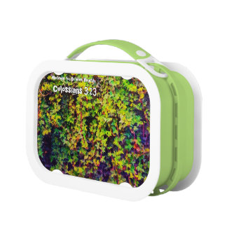 Whatever You Do Work Heartily Colossians 3 23 Lunch Box