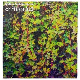 Whatever You Do Work Heartily Colossians 3 23 Napkin