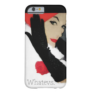 Whatevs funny vintage fashion iPhone 6 case