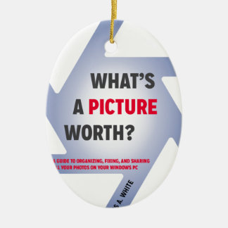 """""""What's a Picture Worth?"""" Merchandise Ceramic Oval Decoration"""