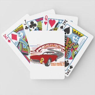 What's behind you doesn't matter. E. F. Bicycle Playing Cards
