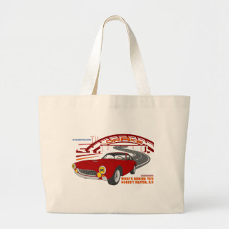 What's behind you doesn't matter. E. F. Large Tote Bag