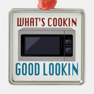 Whats Cookin Silver-Colored Square Decoration