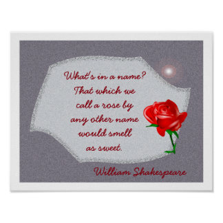 What's in a Name-William Shakespeare quote- print
