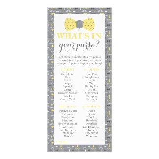 What's In Your Purse? Baby Shower Game, Little Man Rack Card