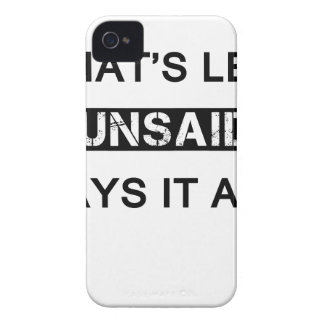 what's left unsaid says it all iPhone 4 Case-Mate cases