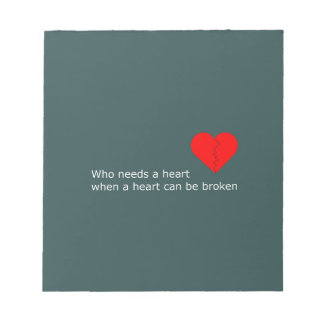What's love got to do with it notepad