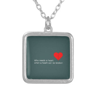 What's love got to do with it silver plated necklace