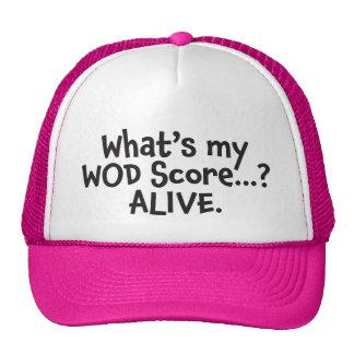 What's My WOD Score? Alive. Black Trucker Hat