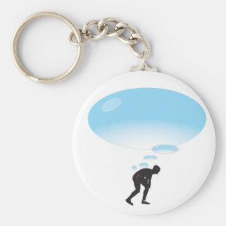 What's on your mind? basic round button key ring