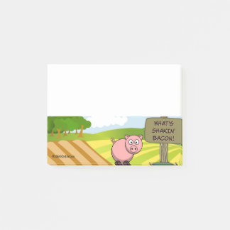 WHAT'S SHAKIN BACON CUTE PIG POST-IT NOTES