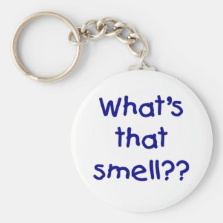 What's That Smell Basic Round Button Key Ring