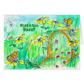 What's The Buzz Happy Birthday Card