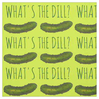 What's the Dill (Deal) Green Pickle Pickles Fabric