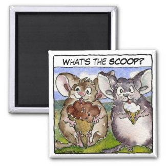 What's the Scoop? Cartoon Ice Cream Magnet
