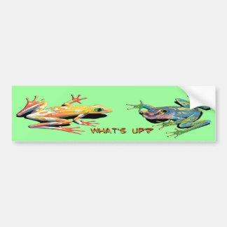 What's Up Frogs Bumper Sticker