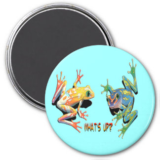 What's Up Frogs 7.5 Cm Round Magnet