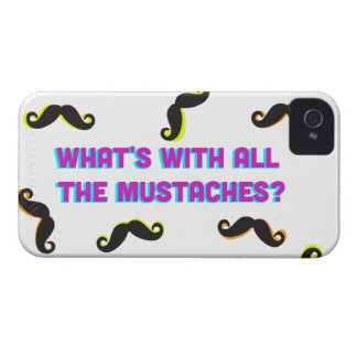 what's with all the mustaches? iPhone 4 case