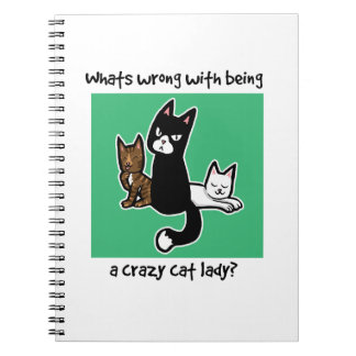 Whats wrong with being a crazy cat lady notebook