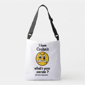 What's Your Excuse...Crohn's Crossbody Bag