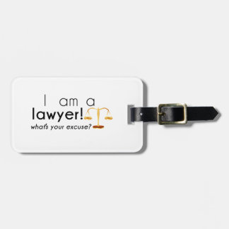 what's your excuse? luggage tag
