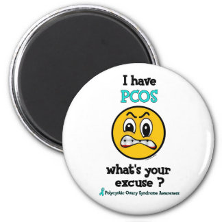 What's Your Excuse...PCOS 6 Cm Round Magnet