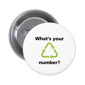 What's Your Number? 6 Cm Round Badge
