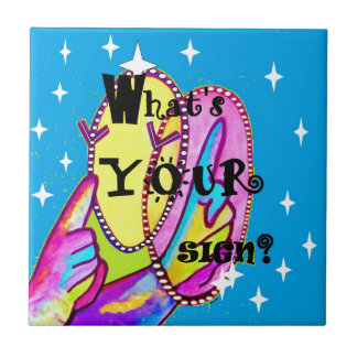 What's Your Sign Small Square Tile