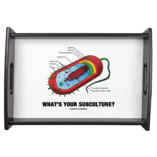 What's Your Subculture? Prokaryote Bacterium Humor Serving Tray