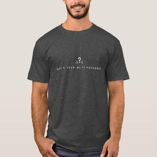 What's your wi-fi password? dark shirt