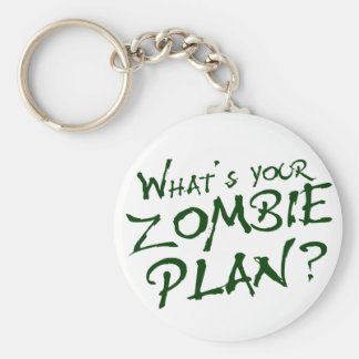 What's Your Zombie Plan? Keychains