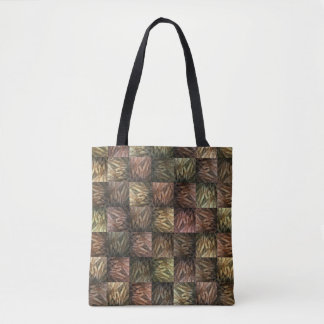 Wheat Abstract Block Art Pattern, Tote Bag