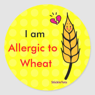 Wheat allergy classic round sticker