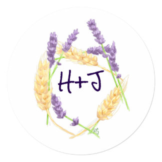 Wheat and Lavender Save the Date Card