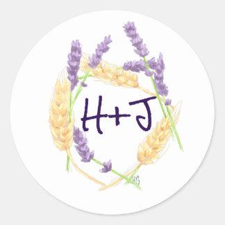 Wheat and Lavender Sticker