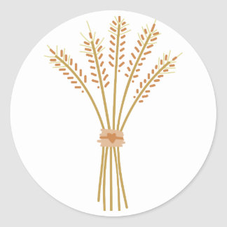 Wheat Bundle Classic Round Sticker