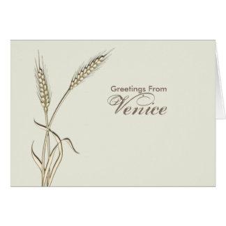 Wheat country wedding single grass card