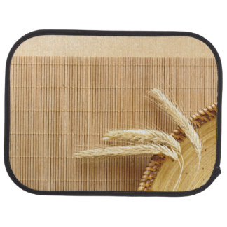 Wheat Ears On Wooden Plate Car Mat