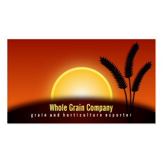 Wheat Ears Sunset Horticulture Business Cards