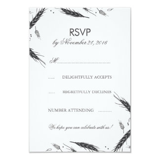 Wheat Fall Wedding RSVP Card