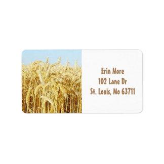 Wheat Field Address Label