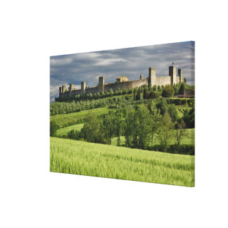 Wheat field and distant Monteriggioni, in the Gallery Wrapped Canvas