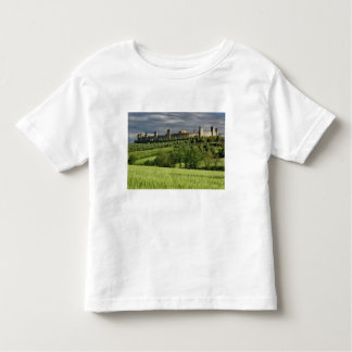 Wheat field and distant Monteriggioni, in the Toddler T-Shirt