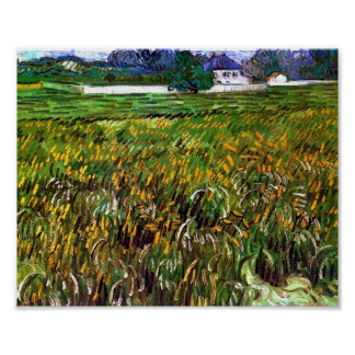 Wheat Field Auvers, White House, Vincent van Gogh Poster